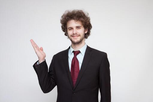 Handsome foreign businessman 230