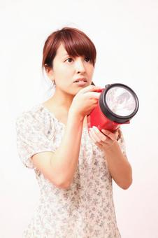 Female with flashlight 4