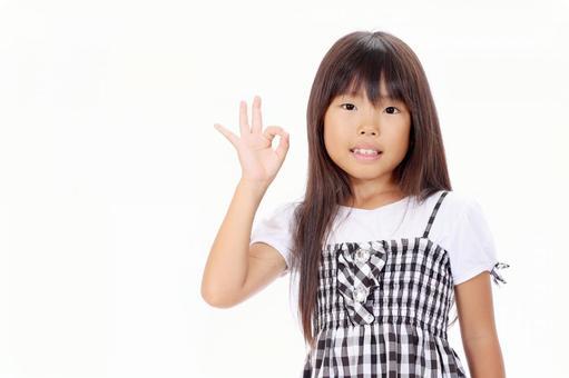 Girl OK Sign