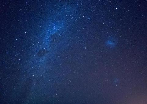 Milky way shining in the night sky and starry sky