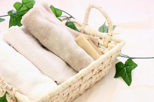 Basket towel and soap 3
