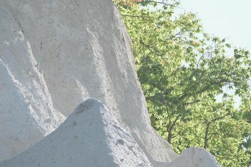 白石山岩面與綠色