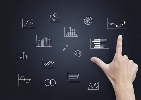 業務圖插圖和點指向