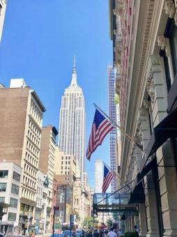 뉴욕의 거리 엠파이어 스테이트 빌딩