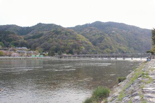 Togetsukyo bridge and mountain
