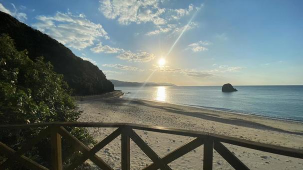 Amami Oshima beach sunrise