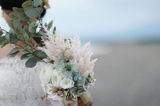 Natural wedding bouquet