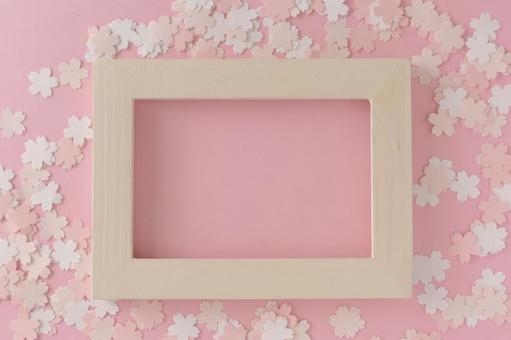 Graduation / admission image Sakura frame
