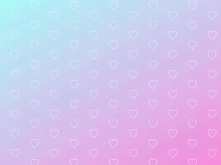 Heart pattern gradation background 3
