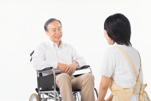 Men and nurses on a wheelchair 37