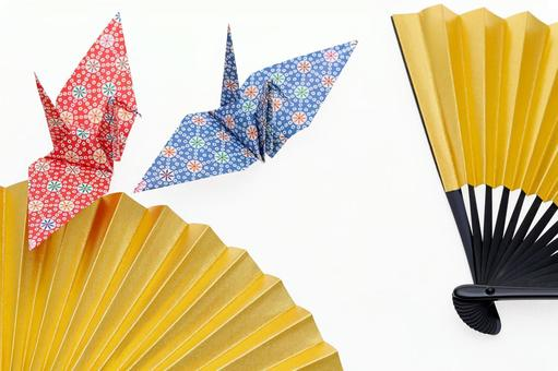 Origami and folding fan