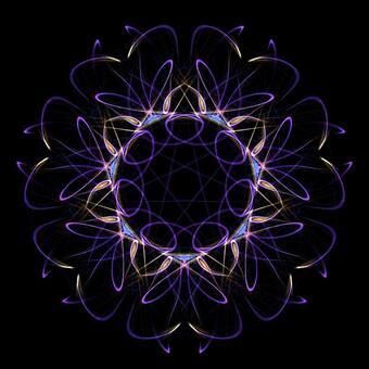 Fantasy geometry model 033 bluish violet