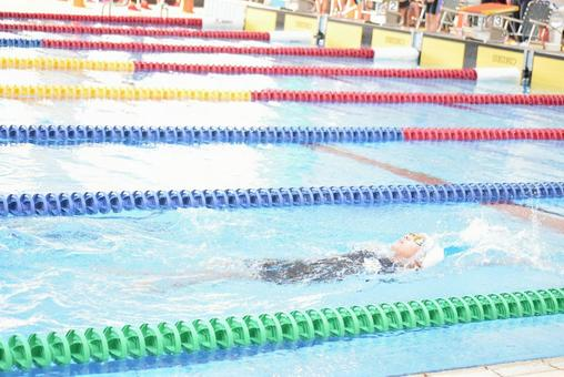 Backstroke swimming girls