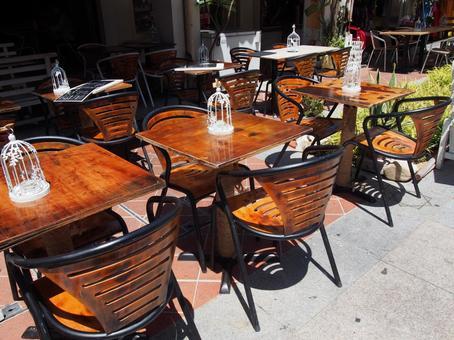 時尚的海外咖啡露台