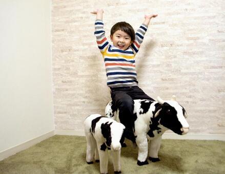 Ox year child background
