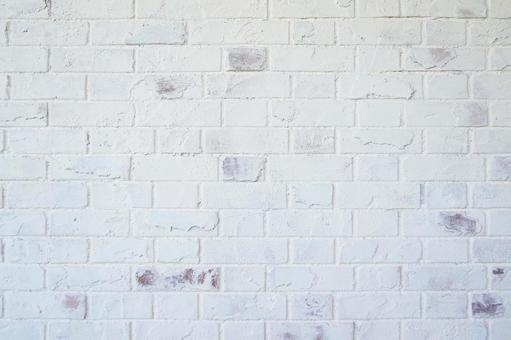 Antique white brick wall | Brick background material