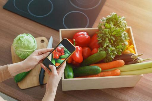 Shooting vegetables with a smartphone