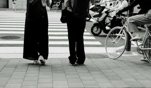 Couple commuting