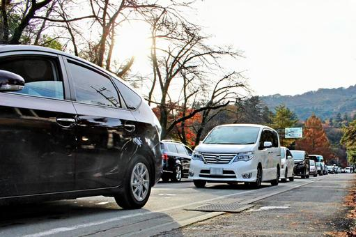 Homecoming traffic congestion