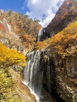 Yasu no Taki and autumn leaves