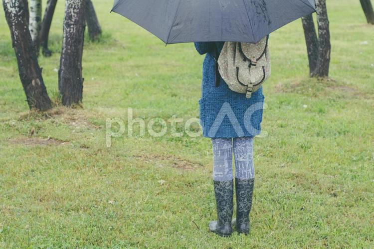 雨傘を差す女性5の写真