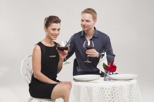 Couple drinking wine 16