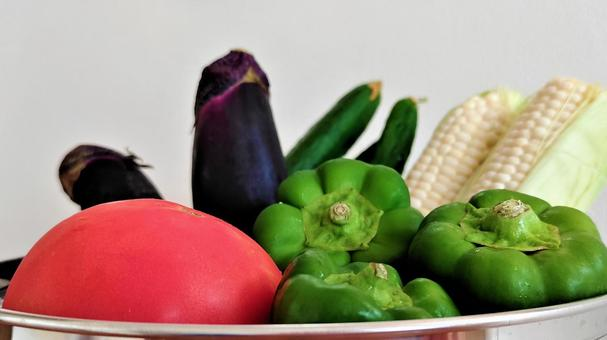 Various colorful summer vegetables 003