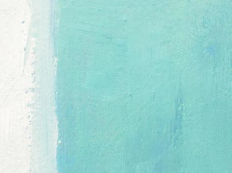 Oil Painting Abstract Painting Texture Aqua Green [Green White Summer Canvas Art Art Design Bright and Refreshing]
