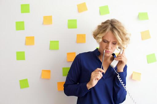 Working in front of a wall with many sticky notes Working mother 8