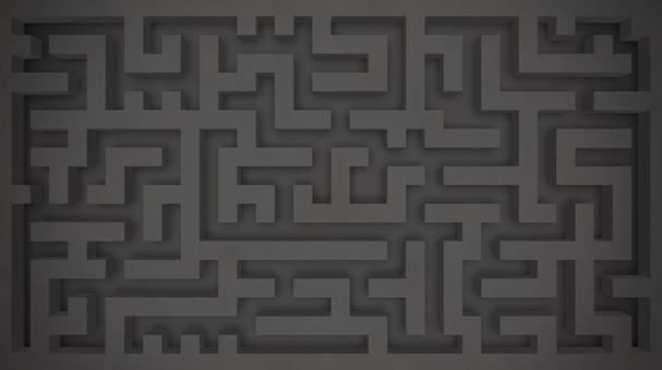 Black wall maze