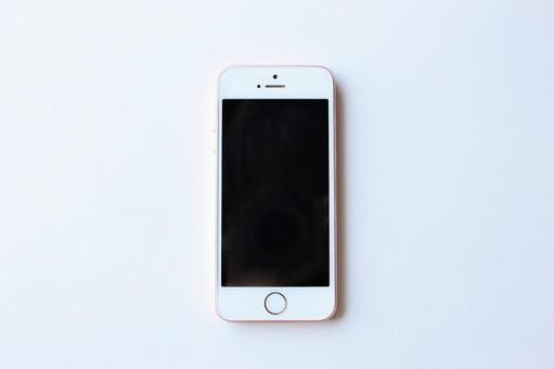 White background and smartphone (white background)