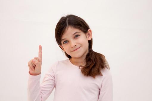 Foreigner girl hand sign 2