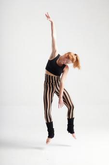 Jumping female dancer 10