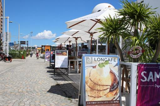 Coastal cafe terrace