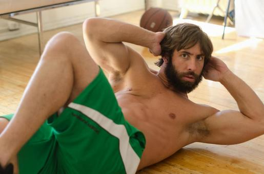Caucasian male fitness model 73