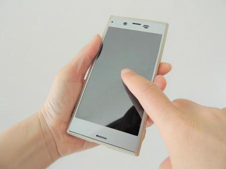 Hand finger to operate smartphone