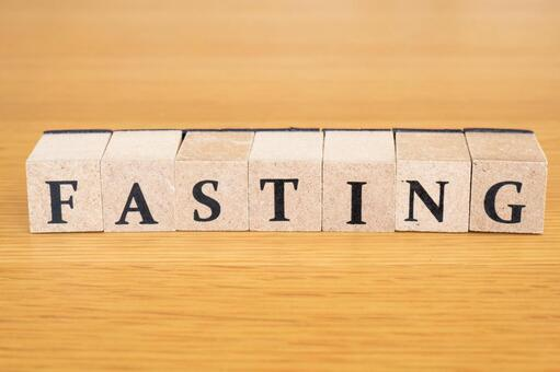 FASTING Character material Wooden block