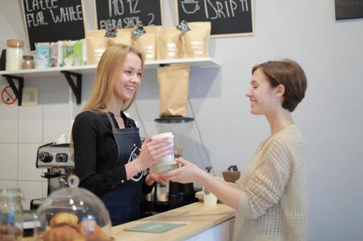 Cafe female clerk 21
