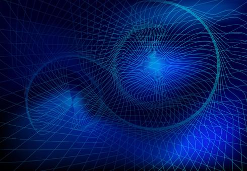 Blue spiral network technology abstract background material