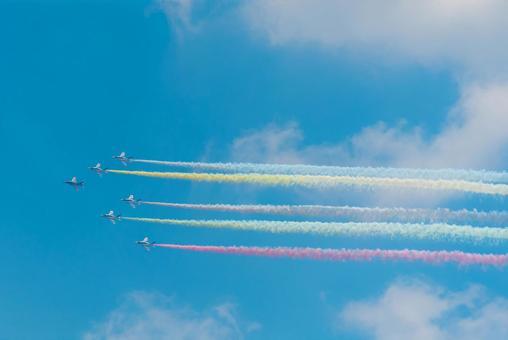 Tokyo Olympics Opening Ceremony_Blue Impulse Exhibition Flight
