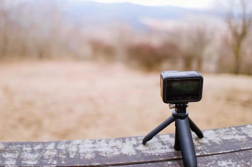 소형 카메라로 촬영