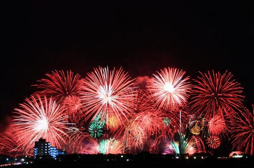 It is a state of summer fireworks display