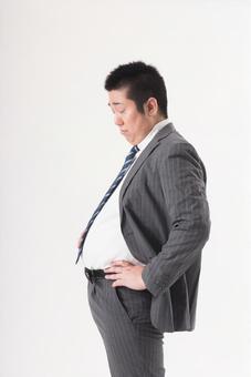 Chubby men wearing suit 6
