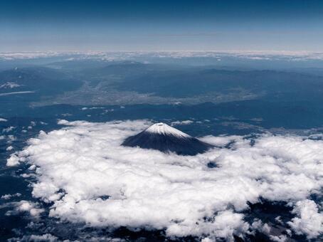 機窓・富士山