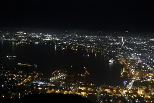 Night view of Mount Hakodate