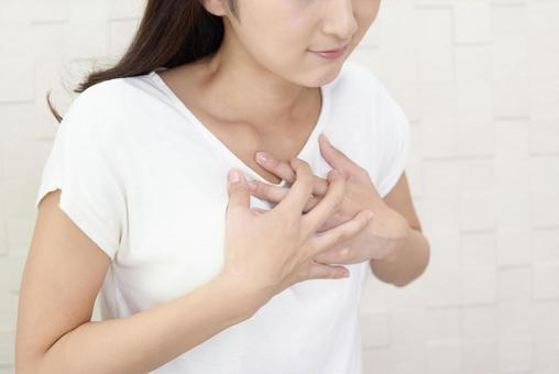 Woman complaining of nausea