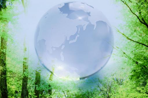 Globe and forest