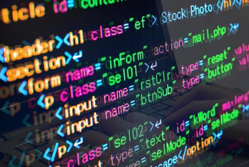Image of WEB system development, HTML coding, markup language