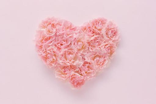 Rose flower heart