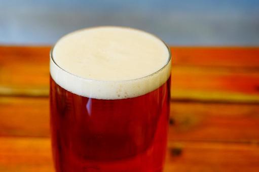 Freshly poured draft beer craft beer